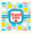 Thank you card design template vector image vector image