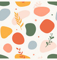trendy seamless pattern with abstract shapes hand vector image
