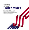 united states independent day poster creative vector image vector image