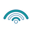 wifi sign icon vector image