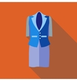 Women classic suit icon flat style vector image vector image