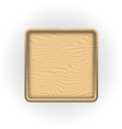 wooden sticker or label with 3d frame wooden vector image vector image