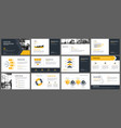 yellow presentation templates and infographics vector image