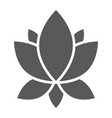 yoga glyph icon flower and health lotus sign vector image