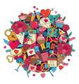 doodles valentines day vector image