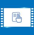 read icon vector image