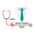 a doctors suit or lab coat with stethoscope vector image vector image