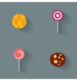 Abstract Delicious candies vector image vector image