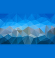 abstract irregular polygonal background sky blue vector image vector image
