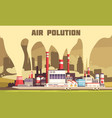air pollution poster vector image vector image