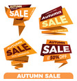 autumn sale sale label price tag banner badge vector image