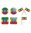 badges with flag of Ethiopia vector image vector image