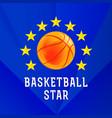 basketball star logo vector image