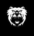 black and white version a bear design vector image