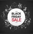 black friday sale message over abstract vector image vector image