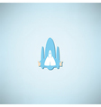 cartoon doodle Hand in spacecraft icon vector image