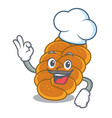 chef challah character cartoon style vector image vector image