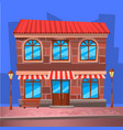 coffee house restaurant with cityscape vector image