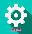 Cog - Gear Flat Design Symbol vector image vector image