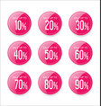 discount sale stickers pink collection vector image vector image