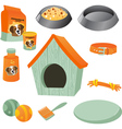 Dog care icon set vector image vector image
