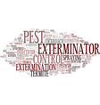 extermination word cloud concept vector image vector image