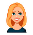 face expression of woman with blond hair vector image