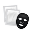 facial black mask cosmetics package vector image vector image