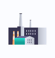 factory building icon industrial plant with pipes vector image vector image