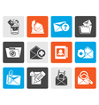 Flat E-mail and Message Icons vector image vector image