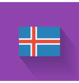 Flat flag of Iceland vector image vector image