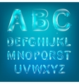 Font alphabet vector image vector image