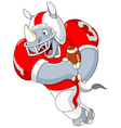 football rhino vector image