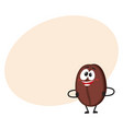 funny crazy looking coffee bean character with vector image vector image