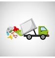 garbage truck recycle icon design vector image vector image
