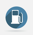 gas station Circle blue icon with shadow vector image