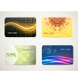 Gift card designs set vector image vector image