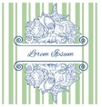 Greeting Card Design Template Eps 10 vector image vector image