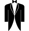 groom coat icon black groom coat icon vector image vector image