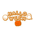 halloween cookie lettering symbol typography of vector image vector image