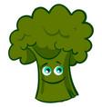happy broccoli on white background vector image