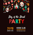 holiday poster for day dead vertical vector image