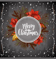holiday vintage design for card christmas vector image vector image