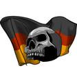 human skull with german flag vector image vector image