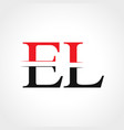 Initial el letter linked logo business template