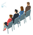 isometric people briefing business training vector image vector image