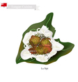 Lu Sipi or Tongan Meat with Coconut in Taro Leaves vector image vector image