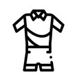 man sport suit icon outline vector image vector image