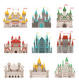medieval old castles and historical buildings with vector image