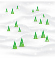 minimal christmas tree landscape background vector image vector image